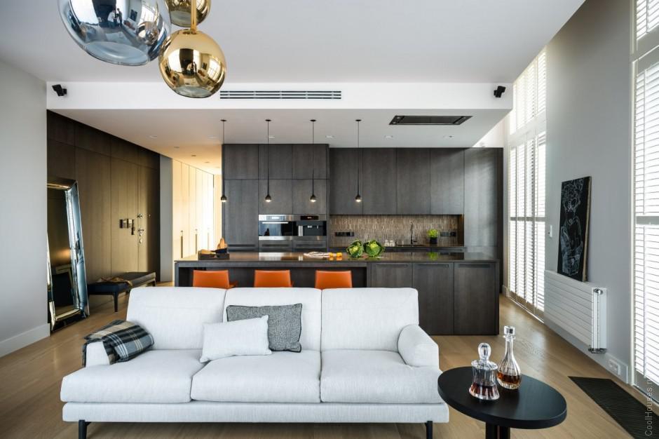 Современный красивый дизайн квартиры