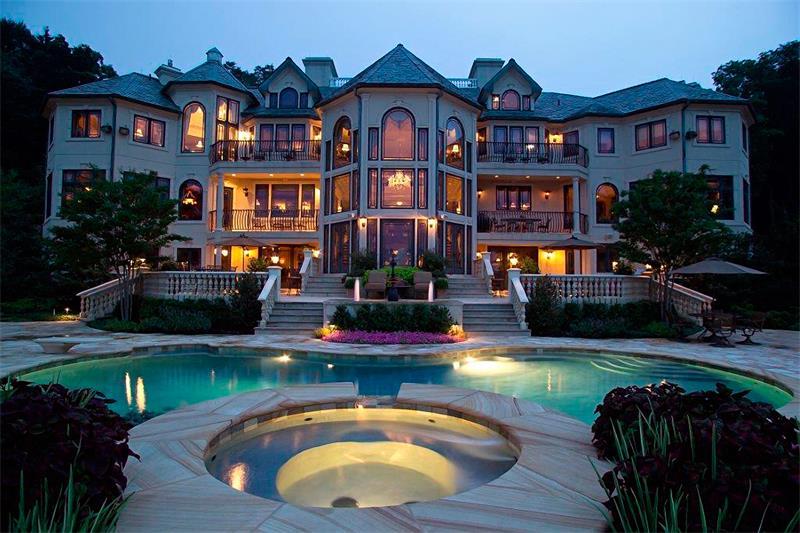 Красивый дорогой дом картинки